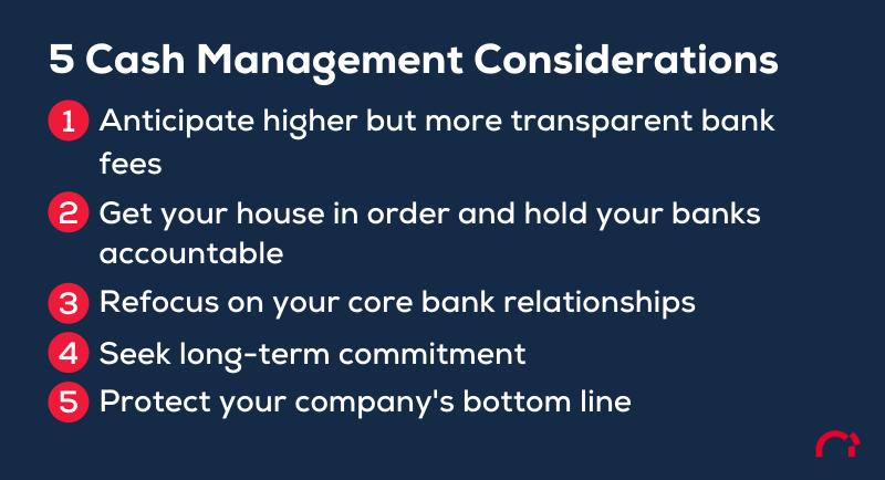 cash management considerations
